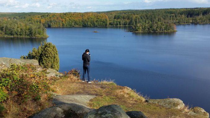 Blick auf den Orlunden-See.