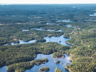 Schwedische Seenplatte.