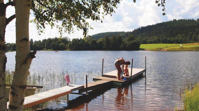 Ein Badestrand in Schweden