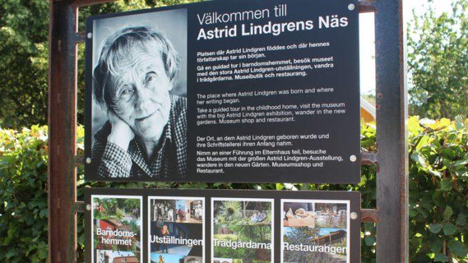 Der Eingang zum Astrid Lindgrens Näs