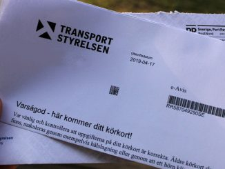 Brief vom Transportstryrelsen