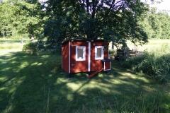 Keine Sauna, keine Stuga, sondern ein Hühnerstall. Langsam nimmt er Formen an.