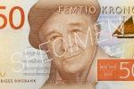 Der neue schwedische 50-Kronen-Schein